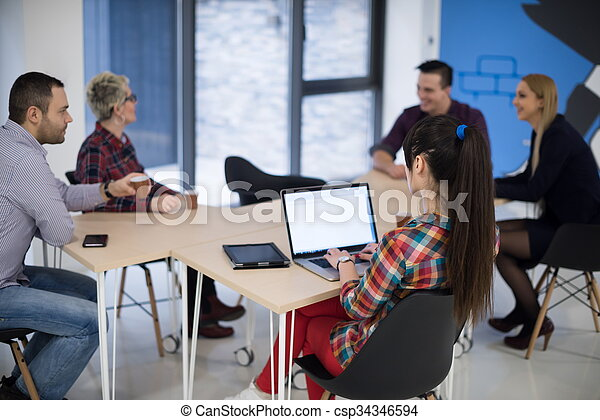 startup business team on meeting - csp34346594