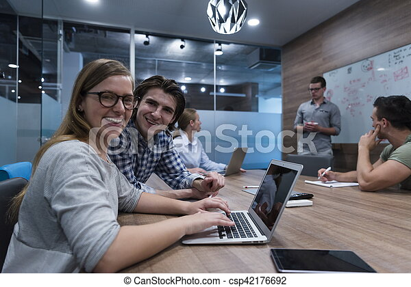 startup business team on meeting - csp42176692