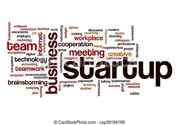 Startup word cloud concept - csp39184199
