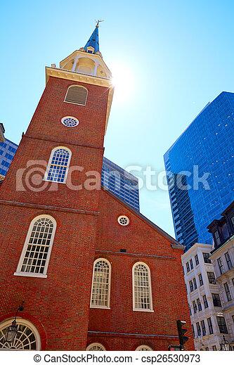 stary, dom, umiejscawiać, historyczny, boston, spotkanie, południe - csp26530973