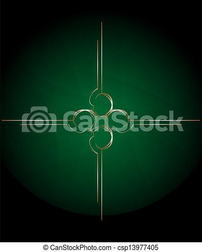 stary, rocznik wina, abstrakcyjny, zielony, retro, tło - csp13977405