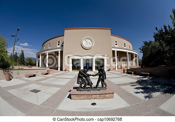 State capital of new mexico state capital building in santa state capital of new mexico csp10692768 publicscrutiny Choice Image