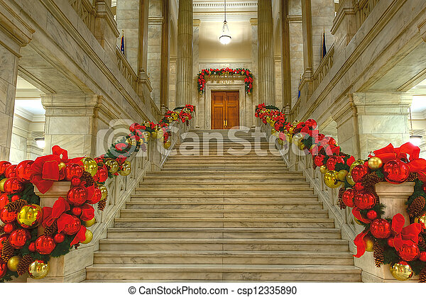 State Capitol at Christmas - csp12335890