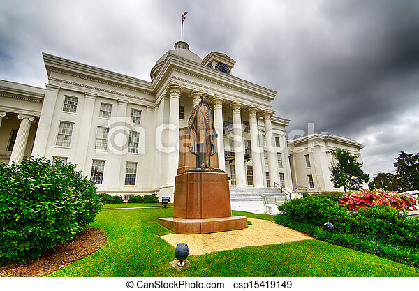 State capitol in Montgomery, AL - csp15419149