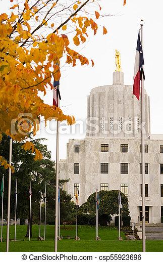 State Captial Salem Oregon Government Capital Building Downtown - csp55923696