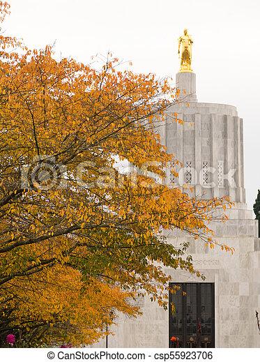 State Captial Salem Oregon Government Capital Building Downtown - csp55923706