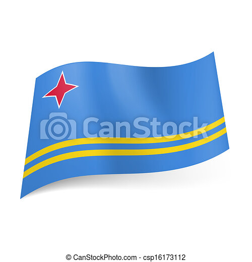 State flag of Aruba. - csp16173112