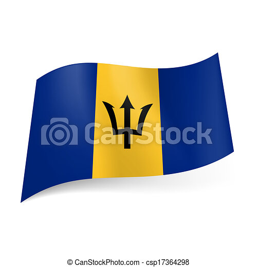 State Flag Of Barbados National Flag Of Barbados Yellow Vertical
