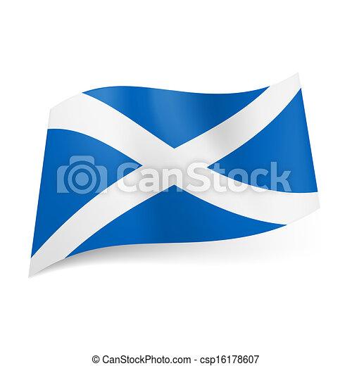 State flag of Scotland. - csp16178607