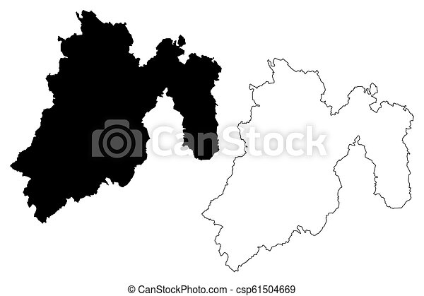 State of mexico map. State of mexico (united mexican states, mexico ...