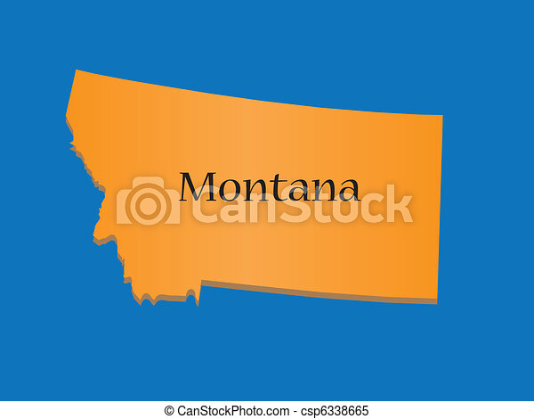 State Of Montana Map Of State Of Montana