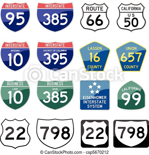 State Road Sign Glossy - csp5670212
