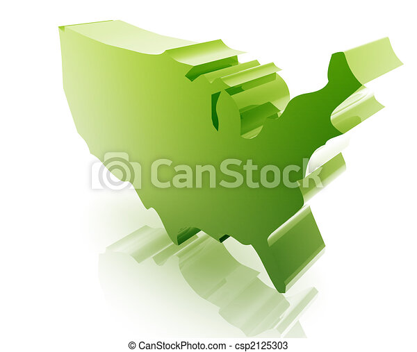 staten, kaart, verenigd - csp2125303