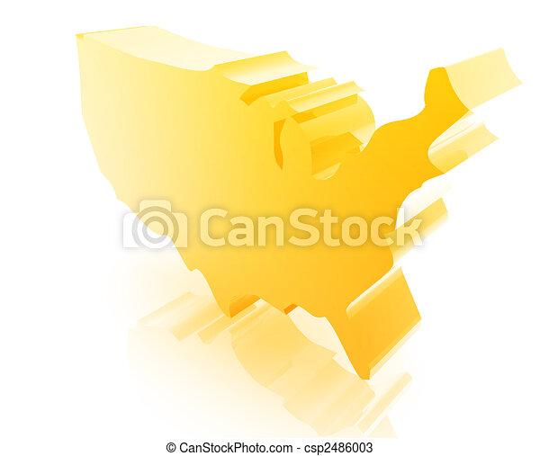 staten, kaart, verenigd - csp2486003