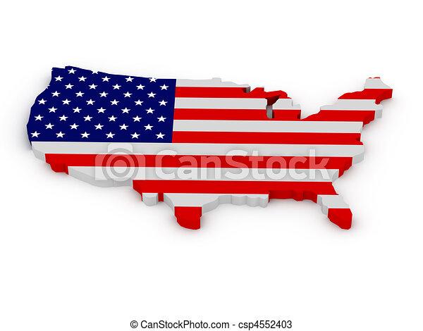 staten, land, verenigd, amerika - csp4552403