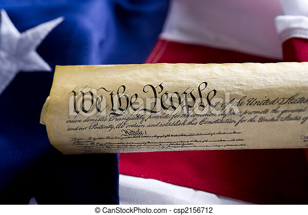 staten, verenigd, grondwet, amerika, boekrol - csp2156712