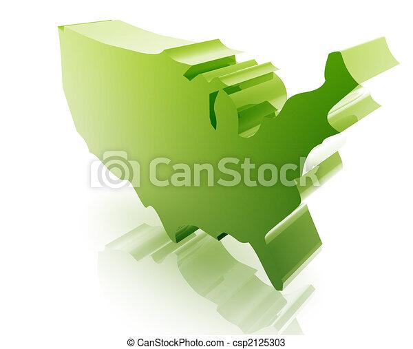 stati, mappa, unito - csp2125303