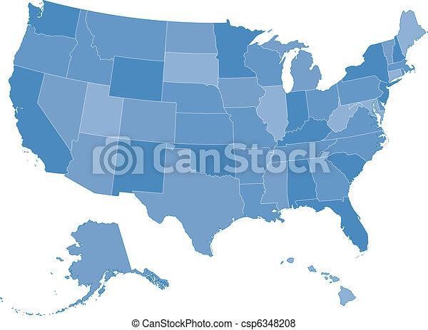 stati, mappa, unito - csp6348208