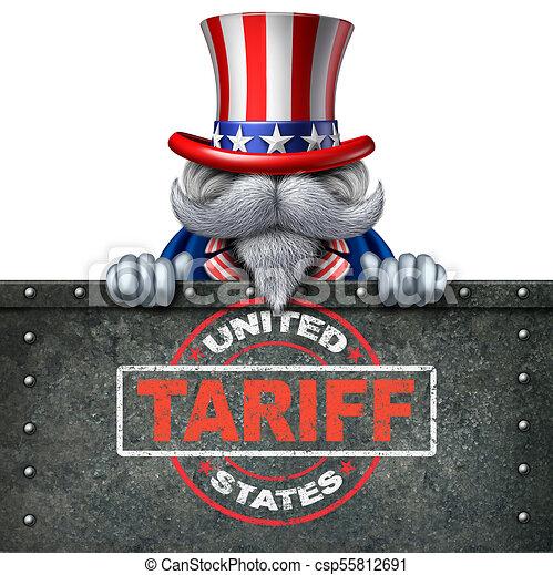 stati, tariffs, unito - csp55812691