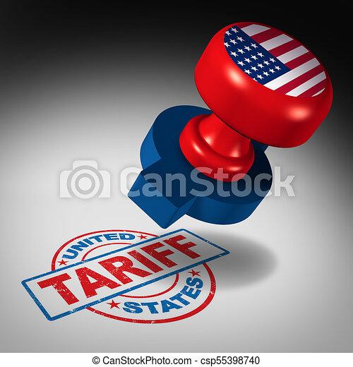 stati, tariffs, unito - csp55398740