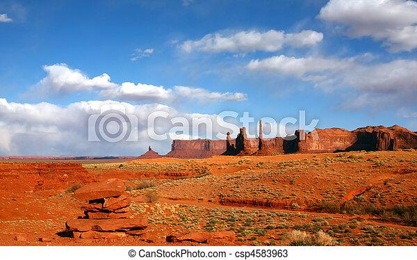 stati uniti, zona, valle monumento, disertare paesaggio - csp4583963