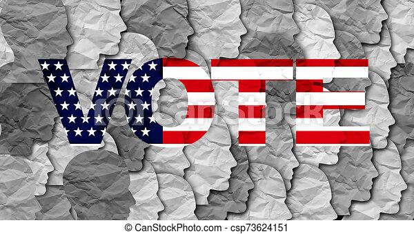 stati, unito, elettori - csp73624151