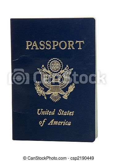 stati, unito, passaporto - csp2190449