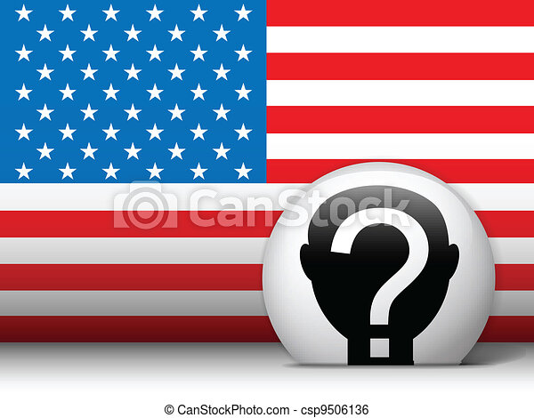 stati, voto, unito, elezione, button. - csp9506136