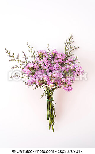 Statice flower bouquet on white background statice flower bouquet on white background csp38769017 mightylinksfo