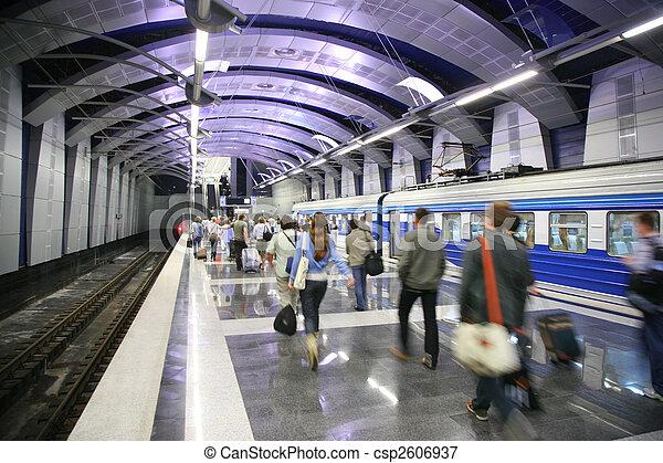 station, train, métro, gens - csp2606937
