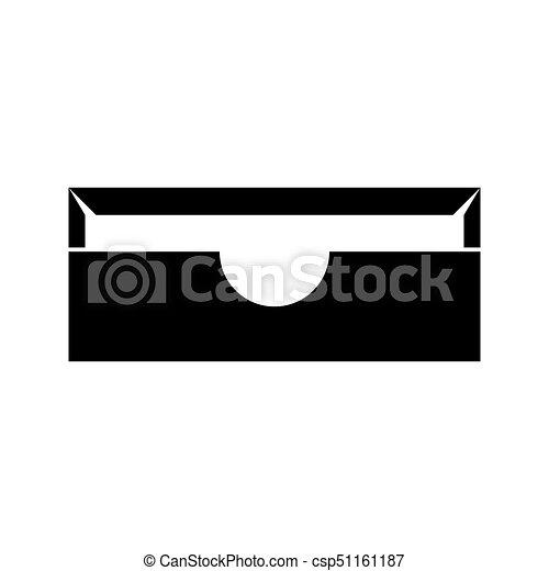 Stationary paper tray black icon . - csp51161187