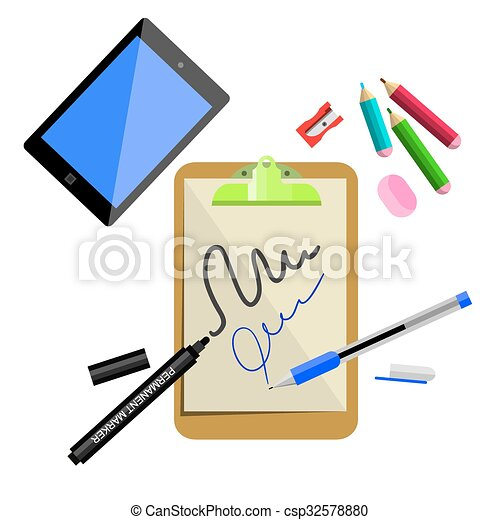 stationery office supplies vector 100 vector search clip art rh canstockphoto com  office supplies clip art free