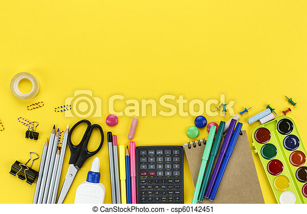 stationery on the table - csp60142451