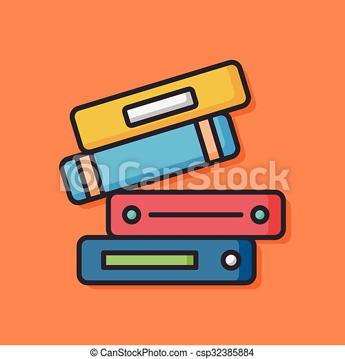 stationery vector office files icon - csp32385884