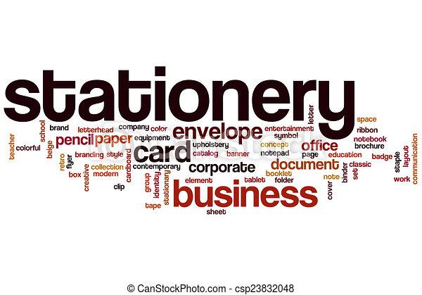 word stationery