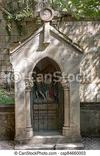 Stations of the Crucifixion Way at the sanctuary of Rocamadour. France - csp84660003