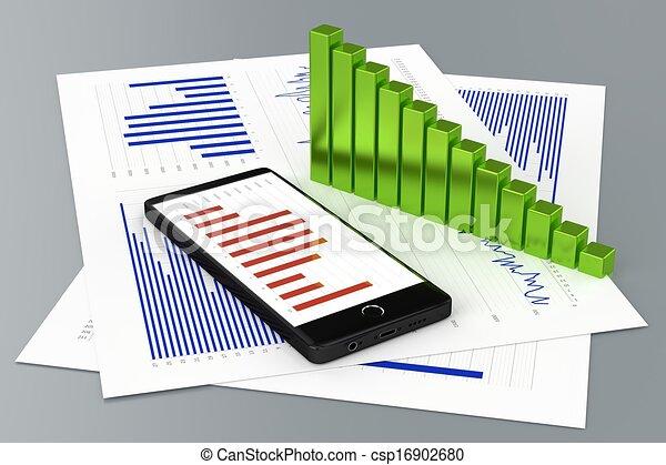 Statistics and Smartphone - csp16902680