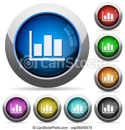 Statistics button set - csp39245574