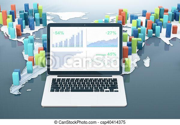 Statistics concept - csp40414375