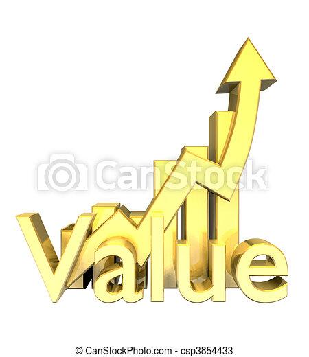 Statistics graphic in gold  - csp3854433