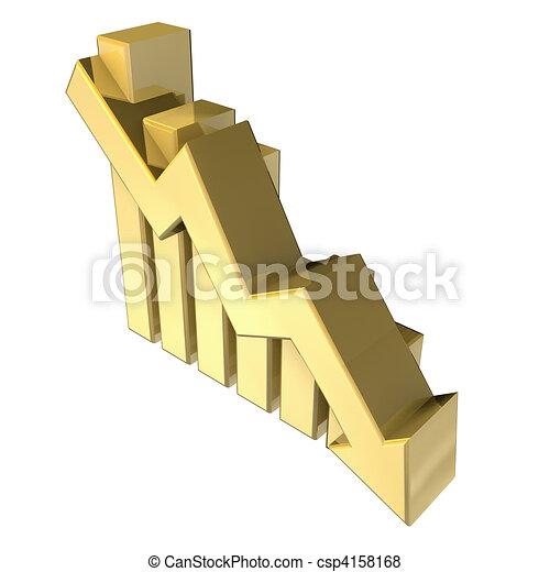 Statistics graphic in gold - csp4158168