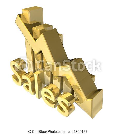 Statistics graphic in gold - csp4300157