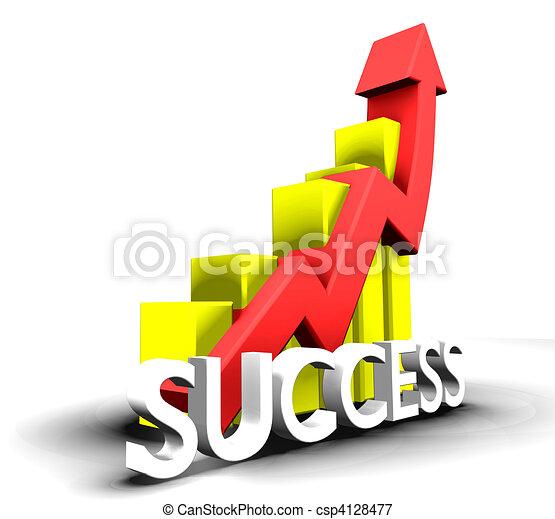 Statistics graphic with success word - csp4128477