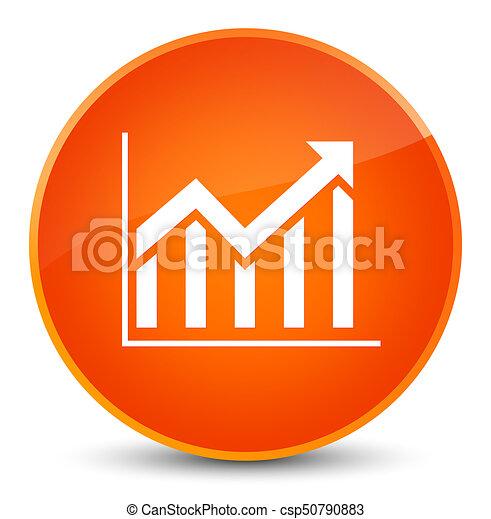 Statistics icon elegant orange round button - csp50790883