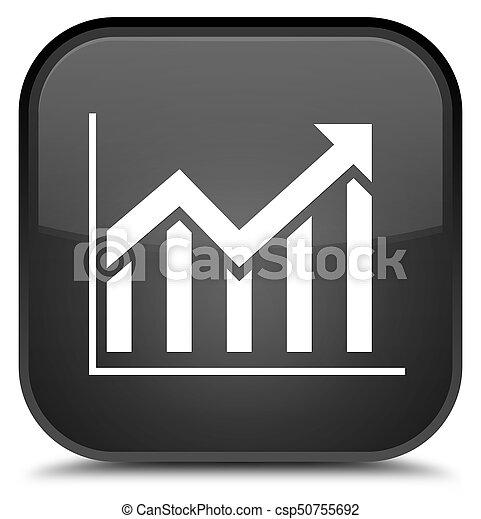 Statistics icon special black square button - csp50755692