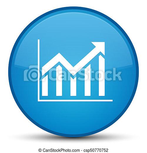 Statistics icon special cyan blue round button - csp50770752