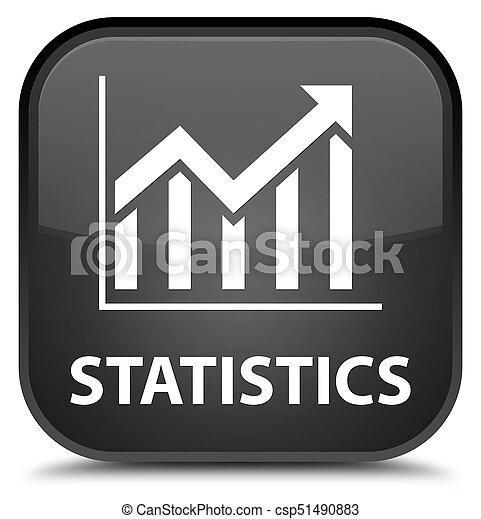 Statistics special black square button - csp51490883