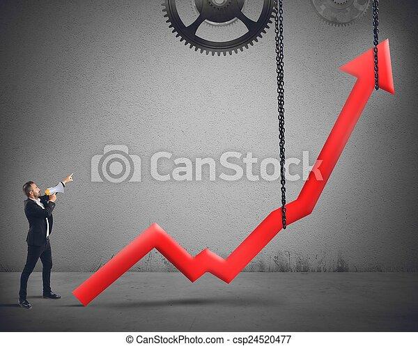 Erhöhe die Statistik - csp24520477