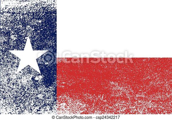 stato, grunge, bandiera, texas - csp24342217