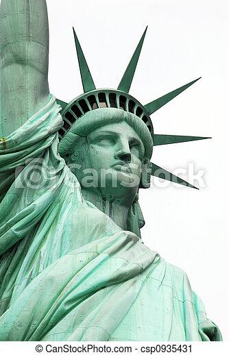 statua, nowy, swoboda, usa, york - csp0935431